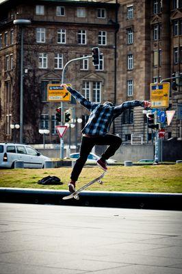 skateboard ollie