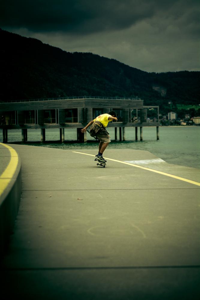 Skateboarding in Bregenz
