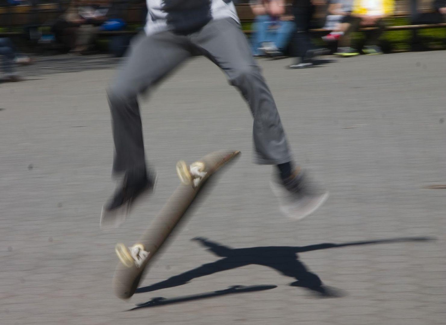 Skateboarding in Central Park 1