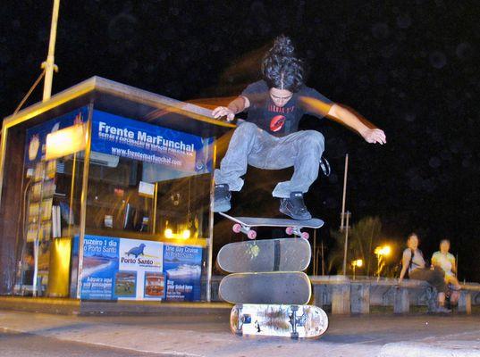 Skateboarding in Funchal