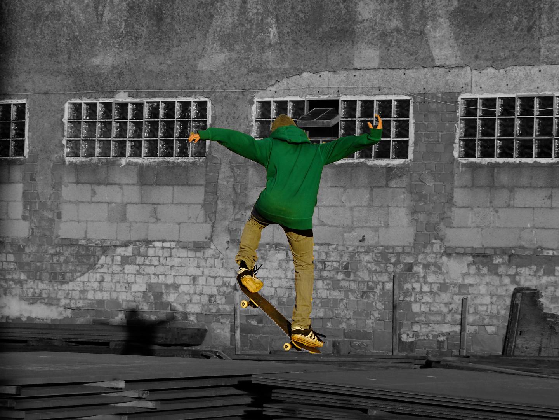 Skater in the docks