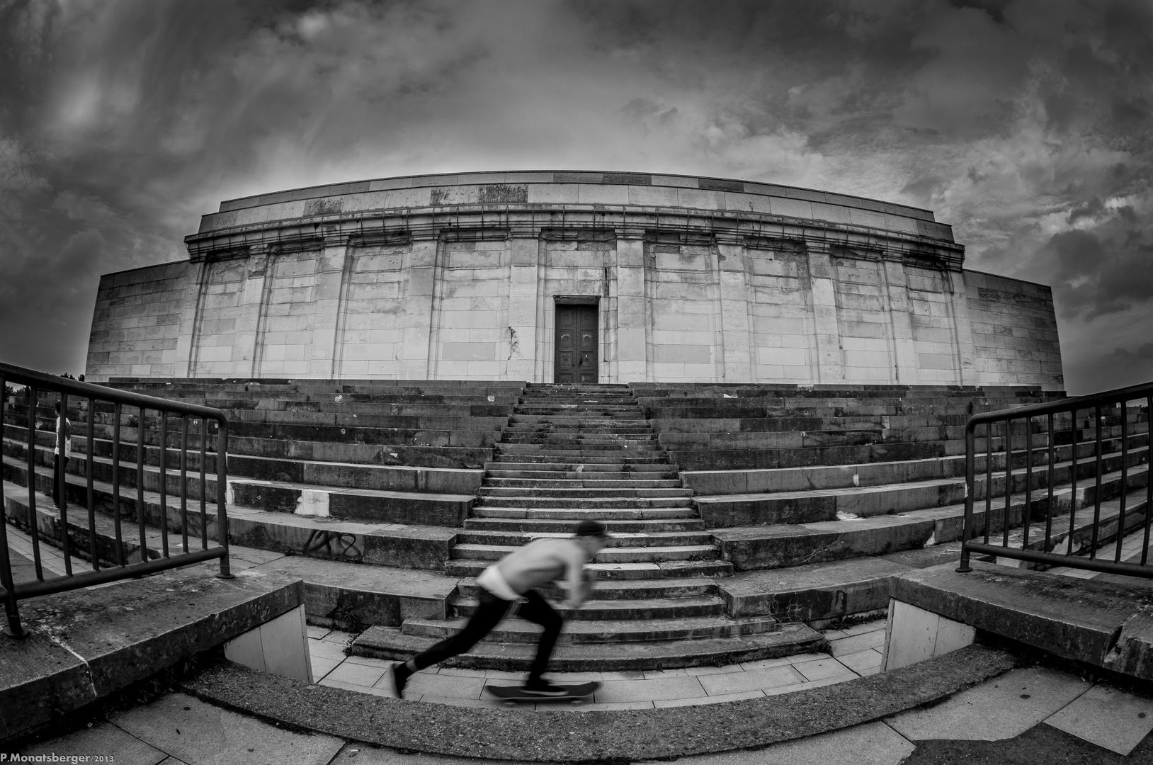 Skater @ Steintribüne in b&w