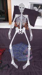 Skelett aufem Sofa