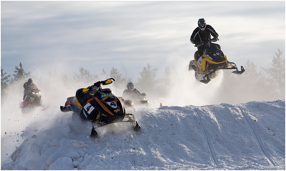 Ski-Doo race ... Motocross in Lappland - 2 -