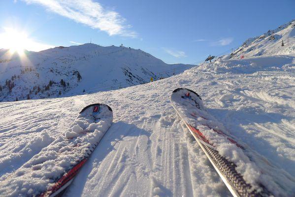 Ski in St. Anton - oben auf dem Galzig in Österreich