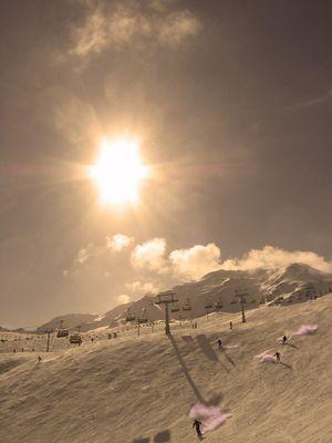 Ski Landschaft bei Sölden