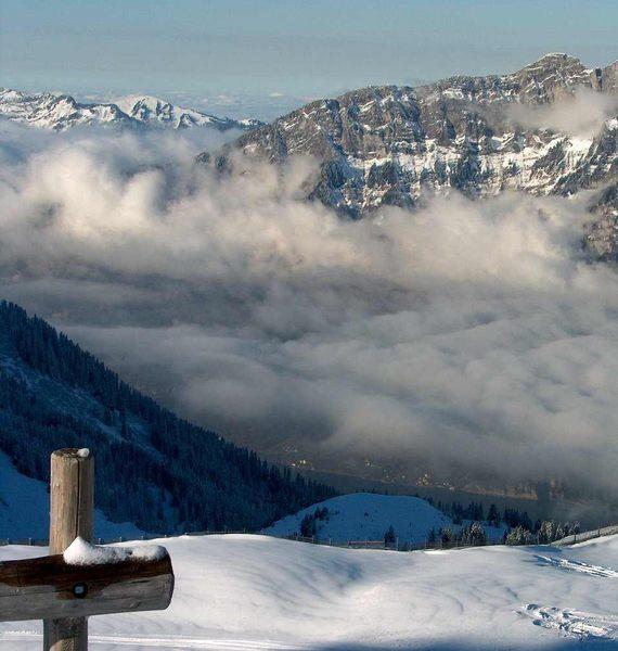 Ski Saison - Erste Tag, auf 2020 m, 29. Nov. 2003. Noch nicht den wahren Winteranfang