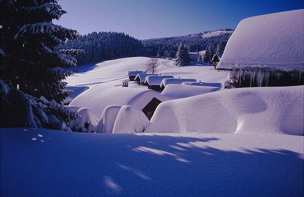 Ski-Siedlung in Vorarlberg