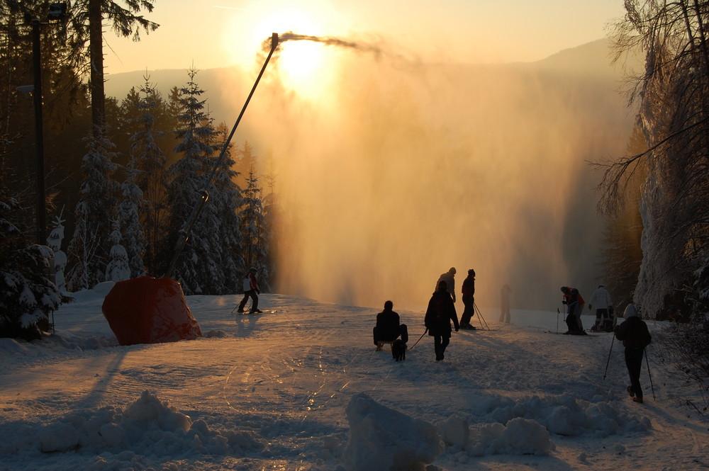 Ski slope in Zelezna Ruda (CZ).