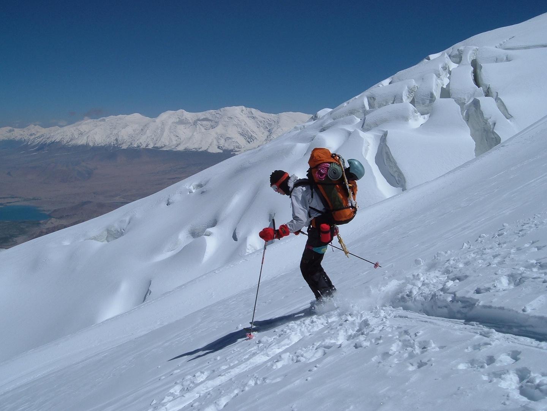 Skiabfahrt am Mustagh Ata