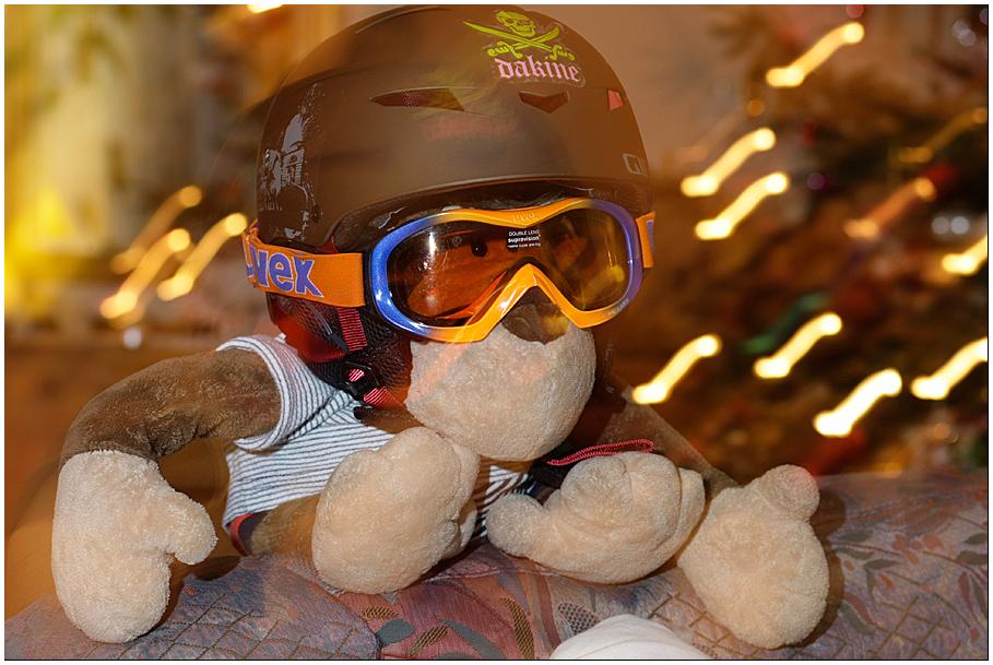 Skibongo kurz bevor er zuerst auf die Piste und dann auf die Skihaserln losgelassen wird