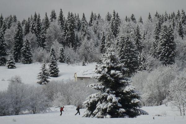 skieurs de fond à Lamoura