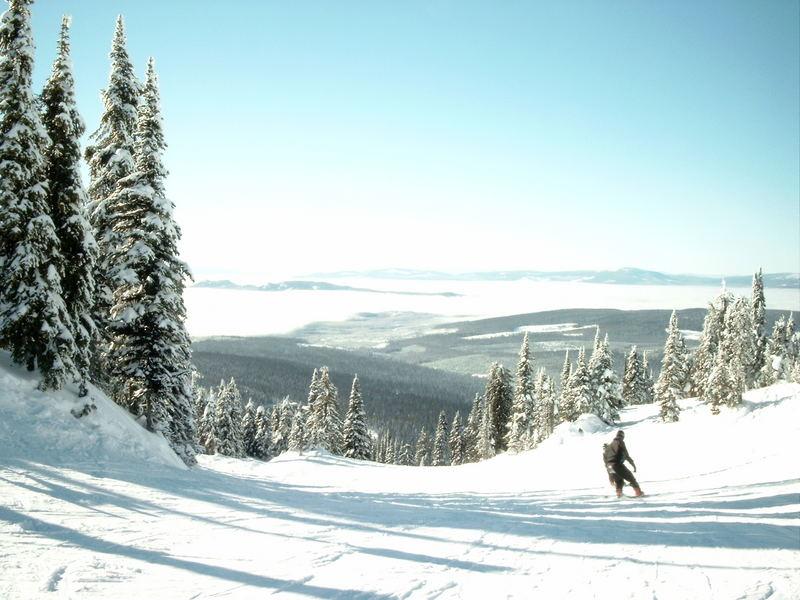 Skigebiet Big Wihte Kanada 2004-2005 Ein Spitzen Wetter.