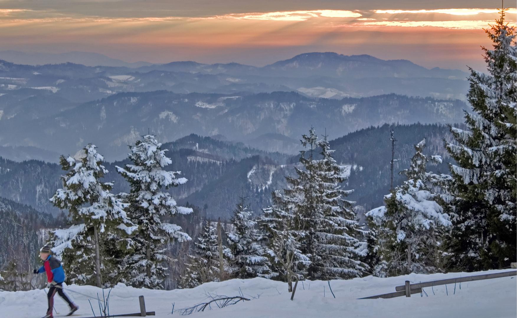 Skilangläufer im Nordschwarzwald