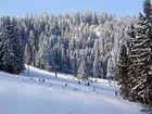 Skilauf in den Bergen