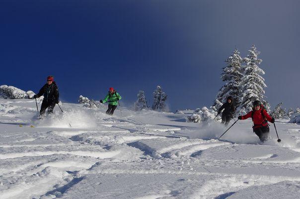 Skitourenabfahrt im Sonntagshorn Gebiet
