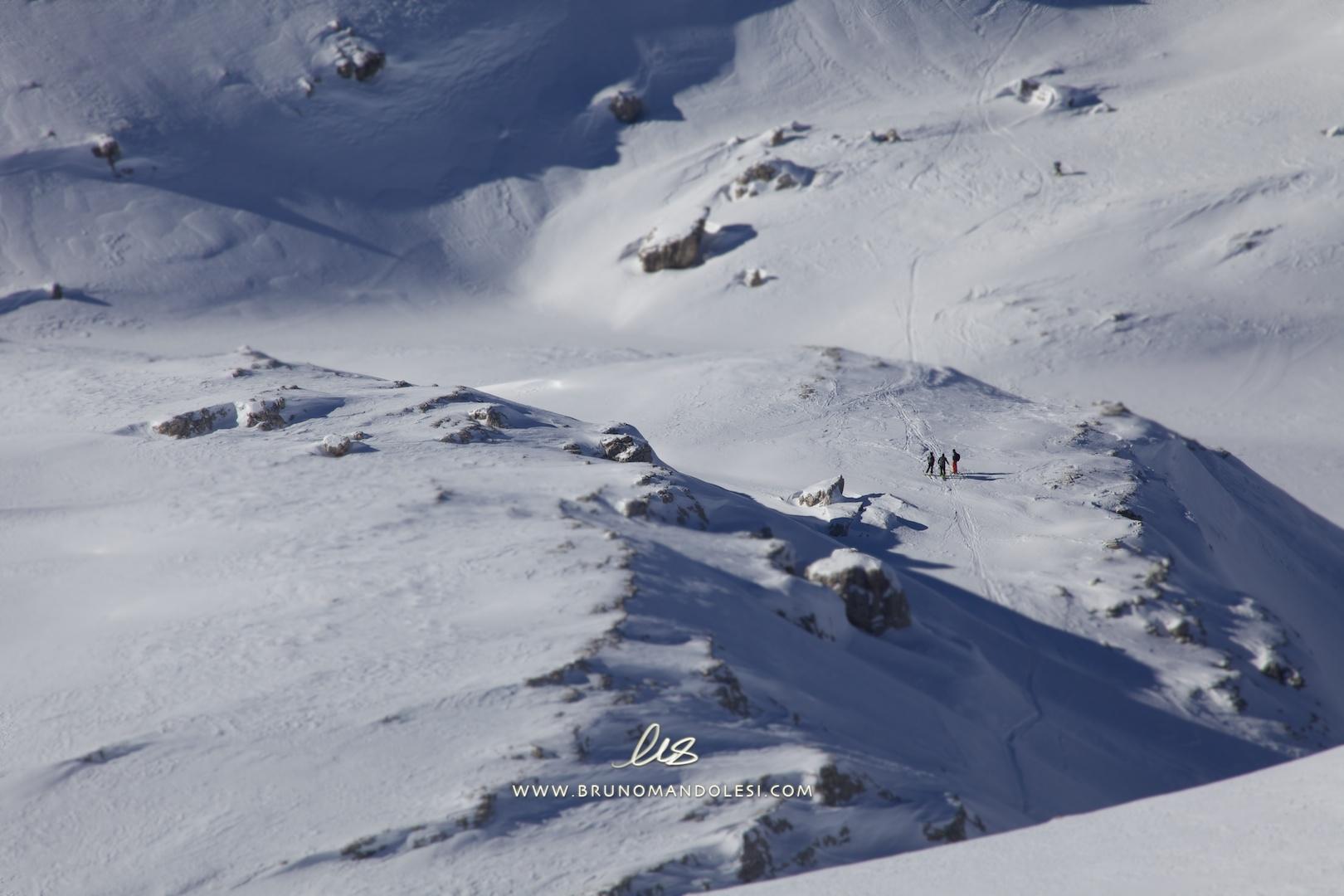 Skitourengeher in den Dolomiten