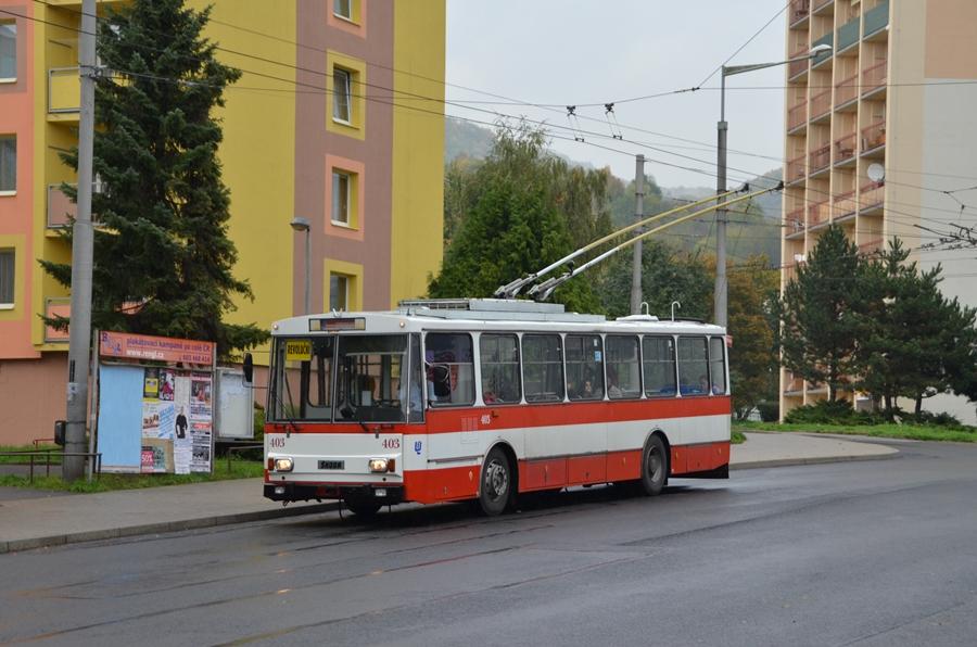 Skoda 14Tr in Usti auf der Linie 58