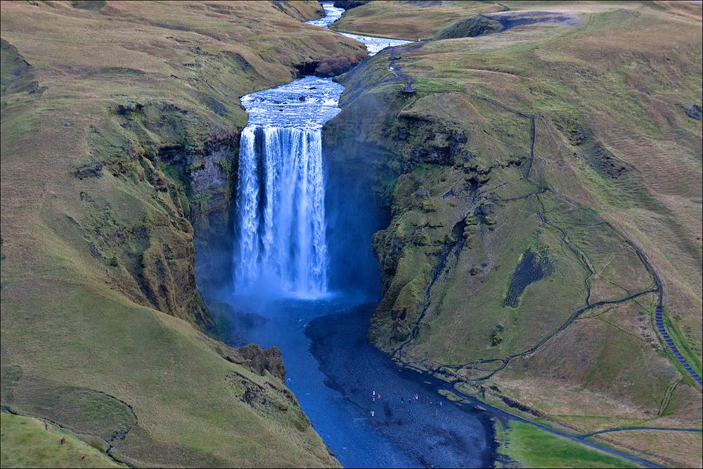 Skógafoss - Aerials Iceland 2013