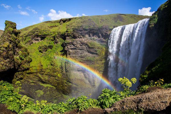 Skógafoss Wasserfall auf Island