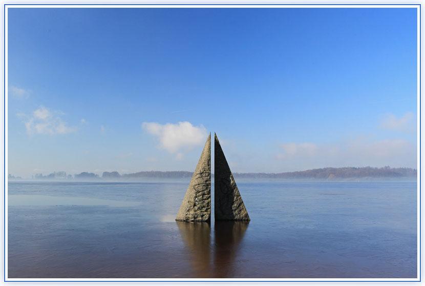 Skulptur am Einfelder See