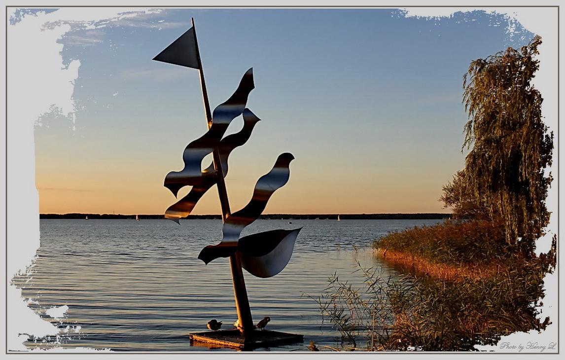 Skulptur am Steinhuder Meer
