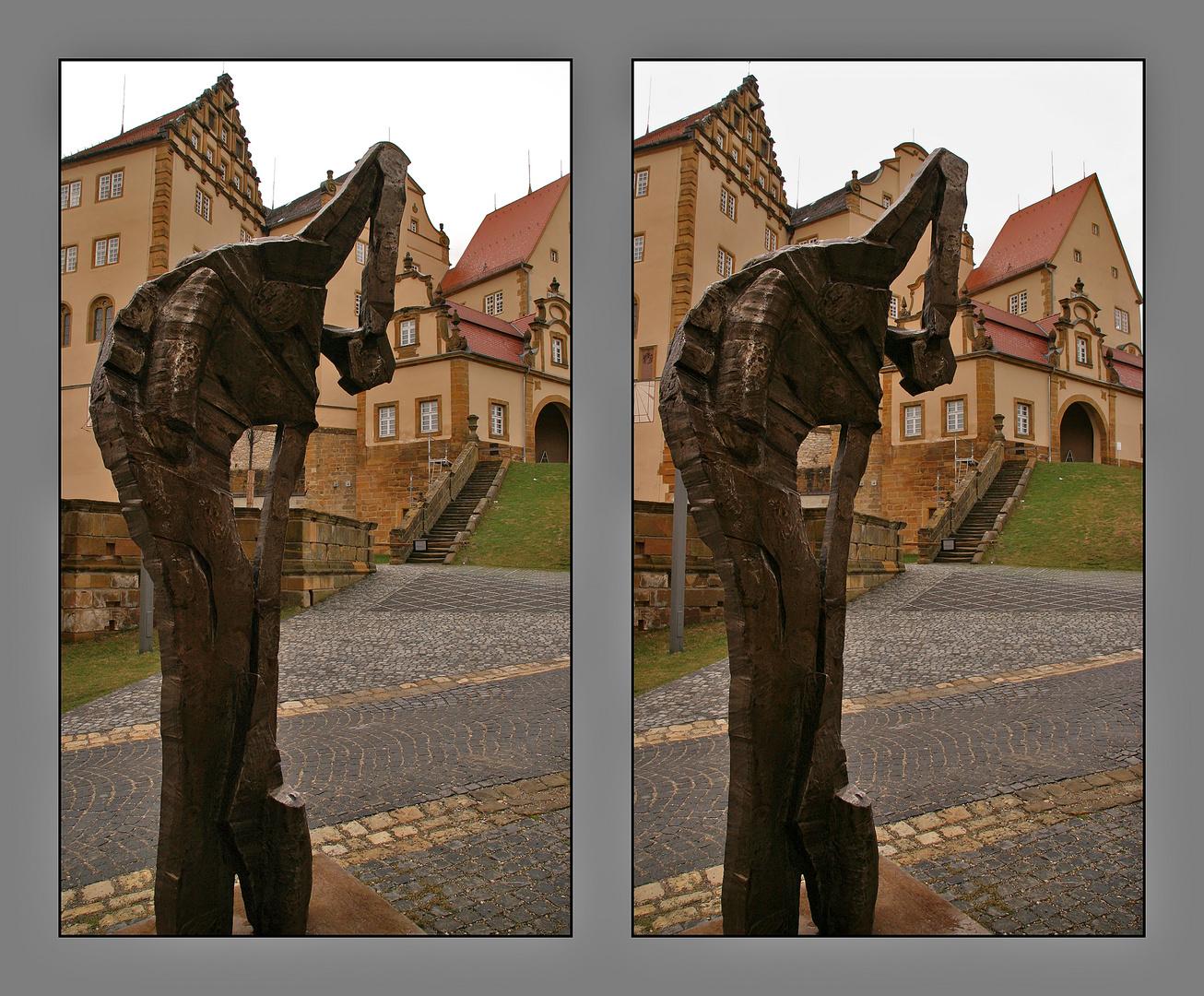 skulptur auf der kapfenburg
