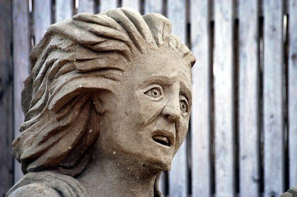 Skulptur aus Sand 1