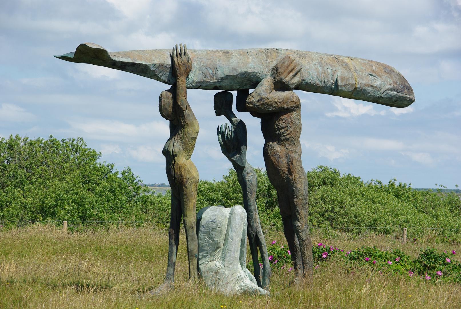 skulptur bei der syltquelle