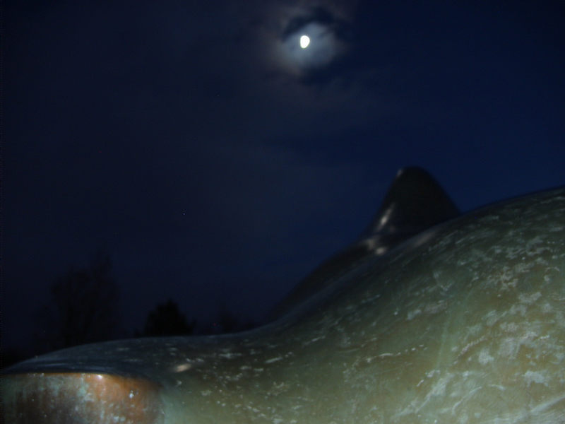 Skulptur bei Nacht