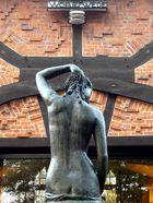 """Skulptur hinter dem """"Cafè Verrückt"""" Worpswede"""