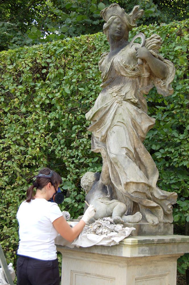 Skulptur im Barockgarten Großsedlitz
