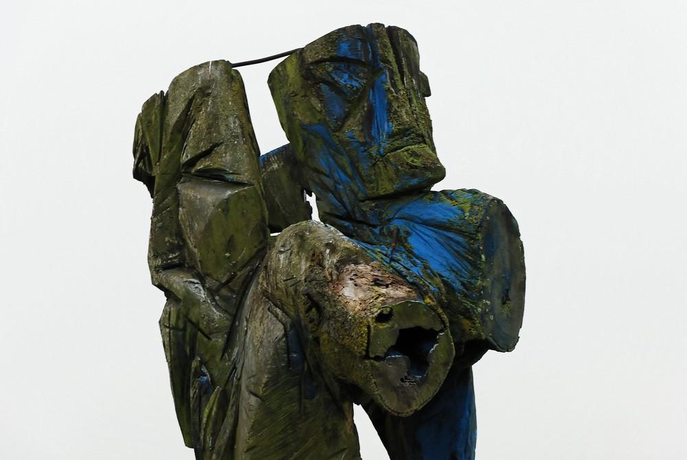 Skulptur im Nebel