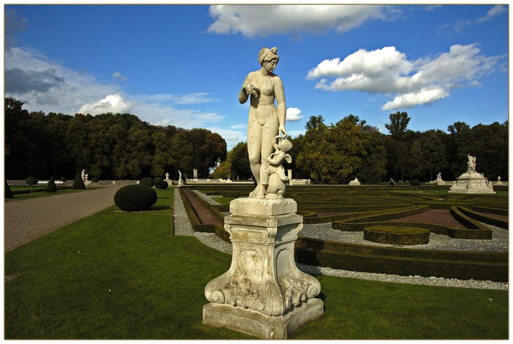 Skulptur im Schlossgarten von Nordkirchen.