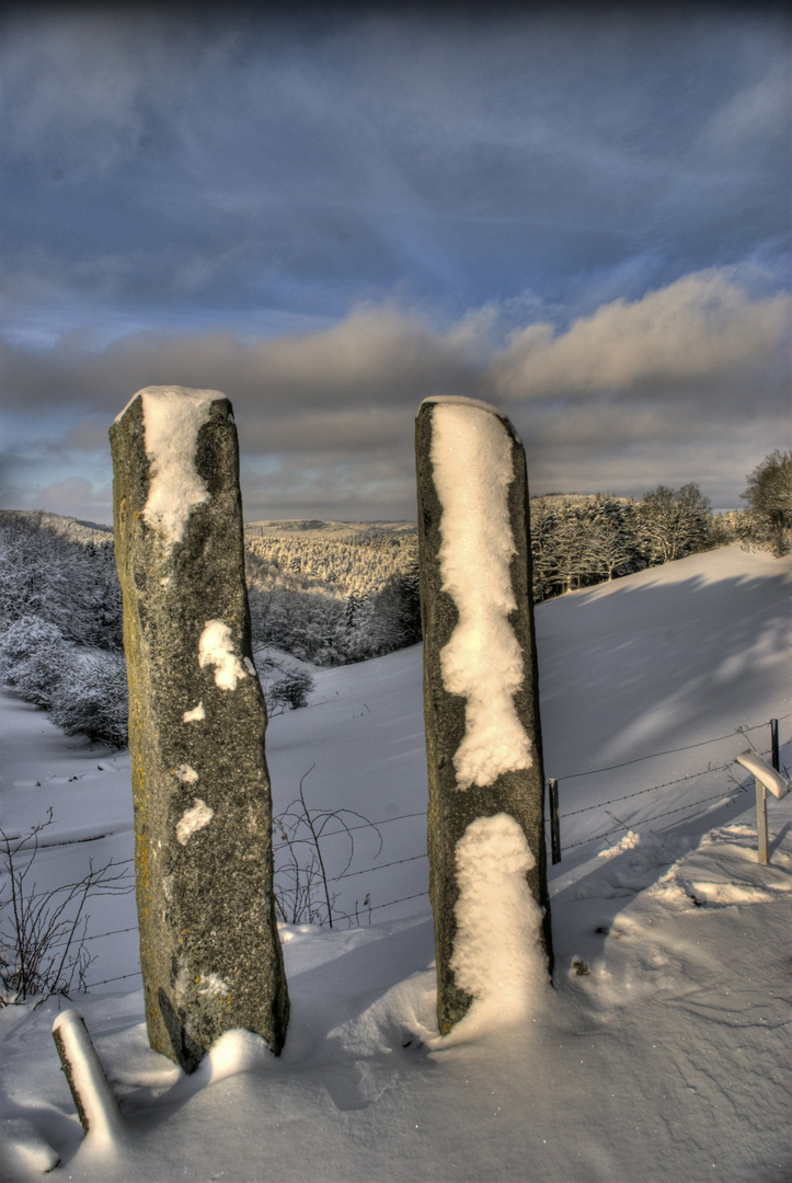 Skulptur im Winter