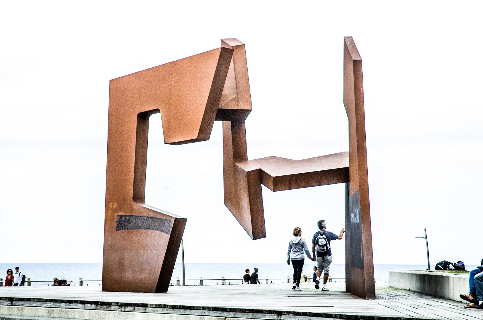 Skulptur, Küste von San Sebastian