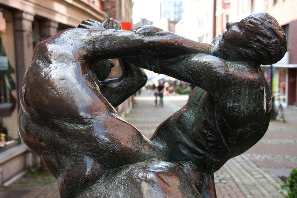 Skulptur Streithähne