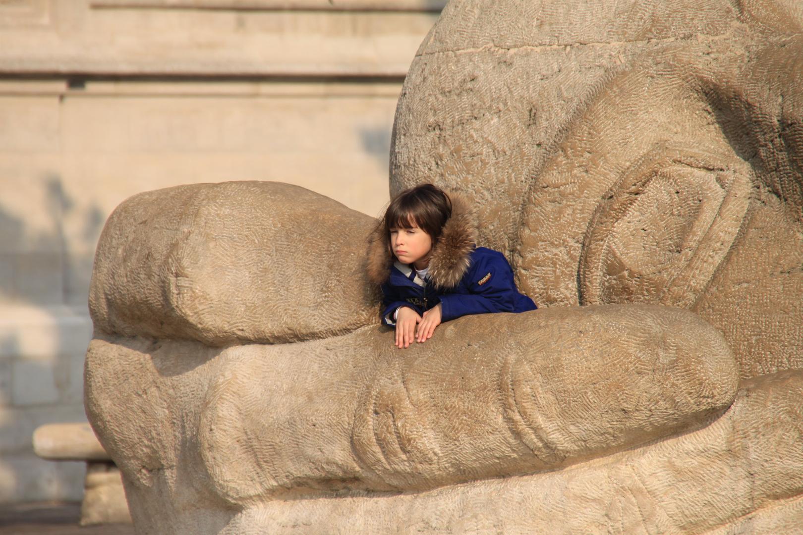 Skulptur vor Saint-Eustache