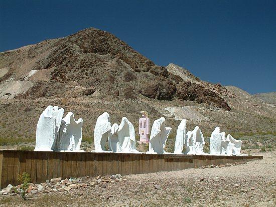 Skulpturen in Rhyolite
