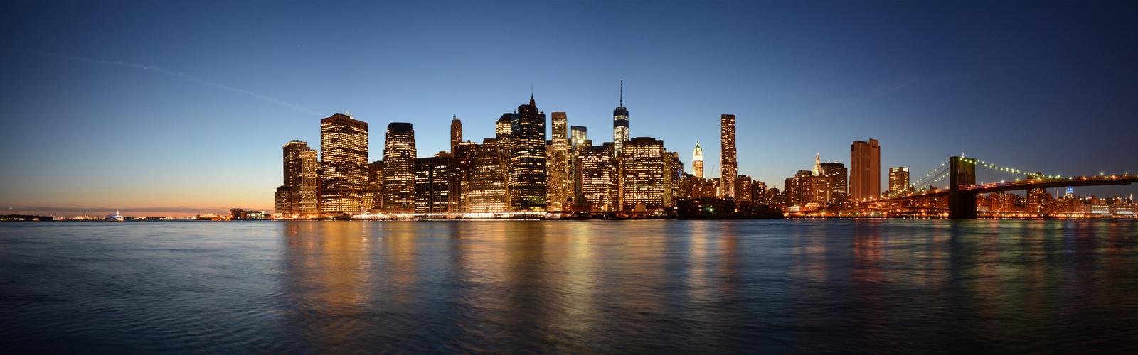 Skyline am Spätabend