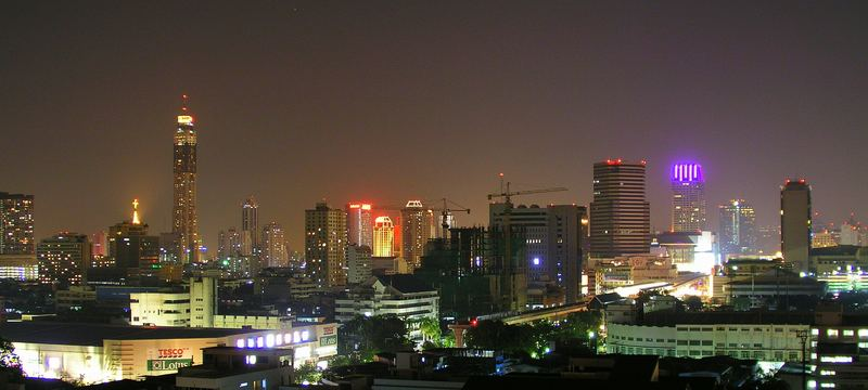Skyline Bangkok in front Baiyoke Tower
