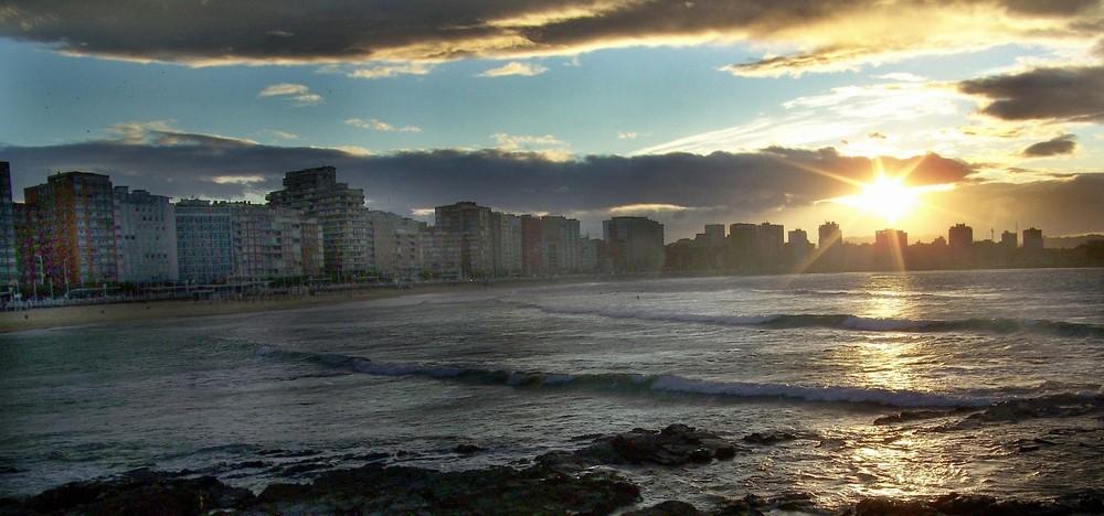 Skyline de Gijón