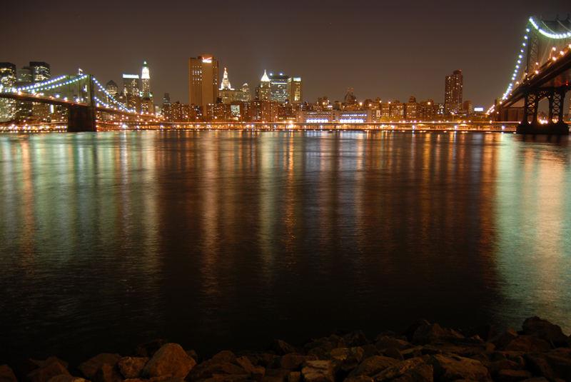 Skyline Downtown Manhattan @ night