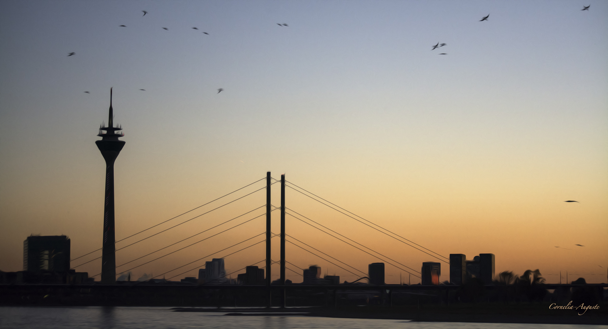 Skyline Düsseldorf..