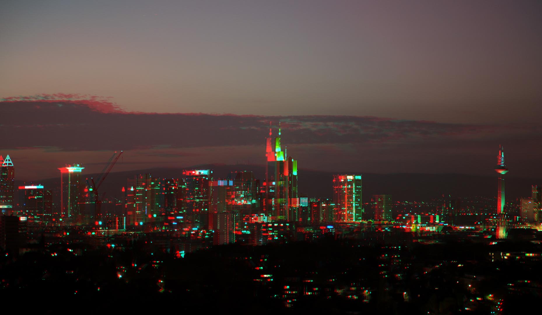 Skyline Frankfurt am Abend