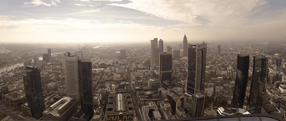 Skyline Frankfurt von oben