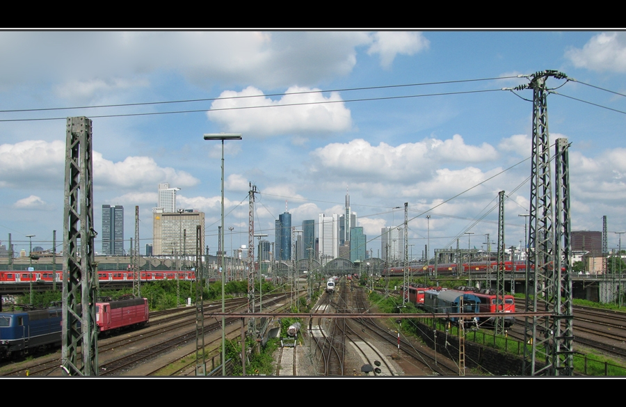 Skyline mit Hauptbahnhof