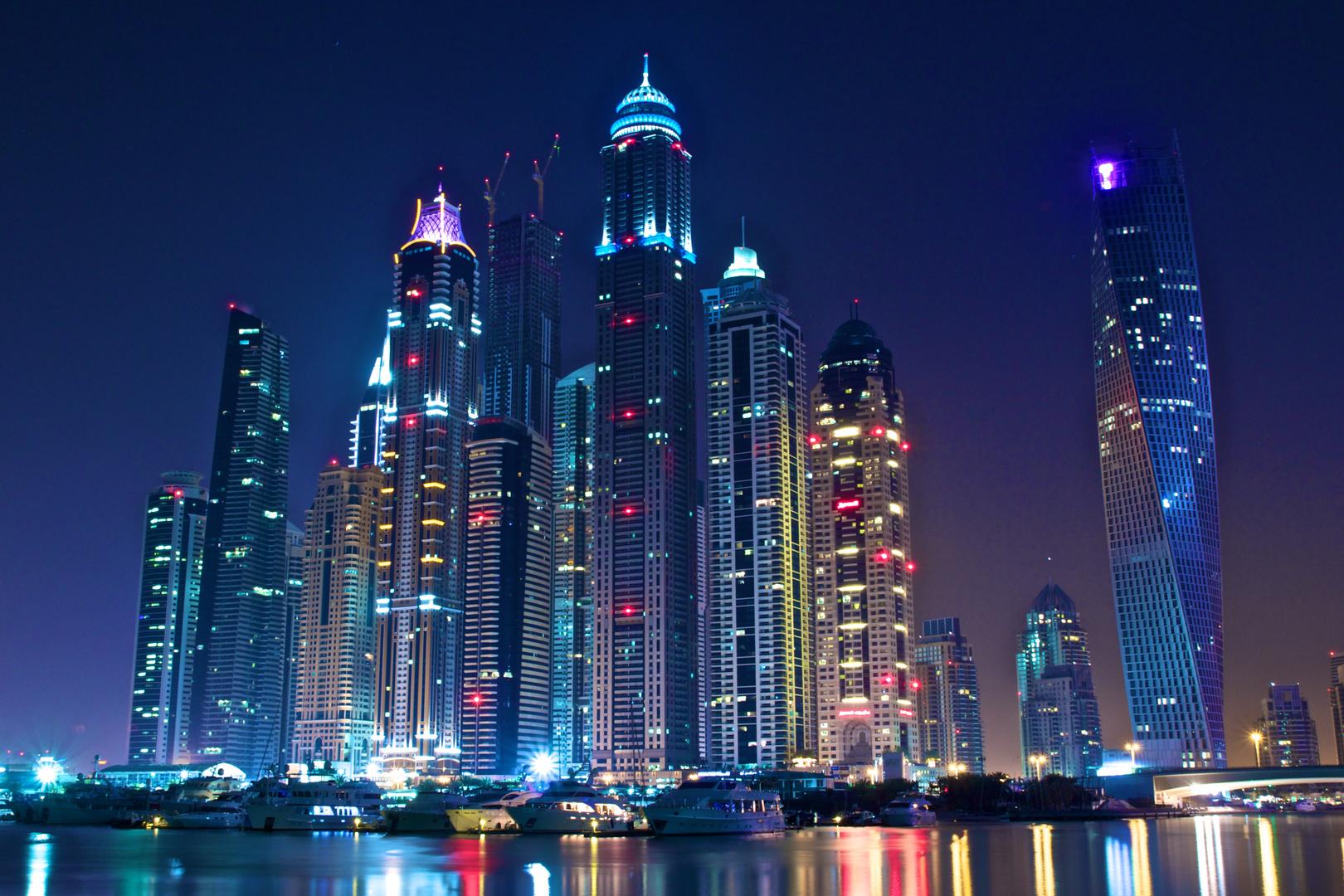 Skyline of Dubai Marina