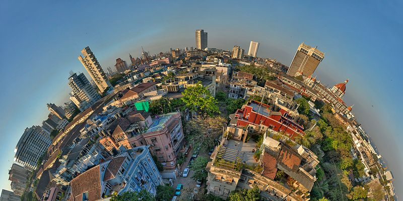 Skyline of Mumbai/India at sunset II