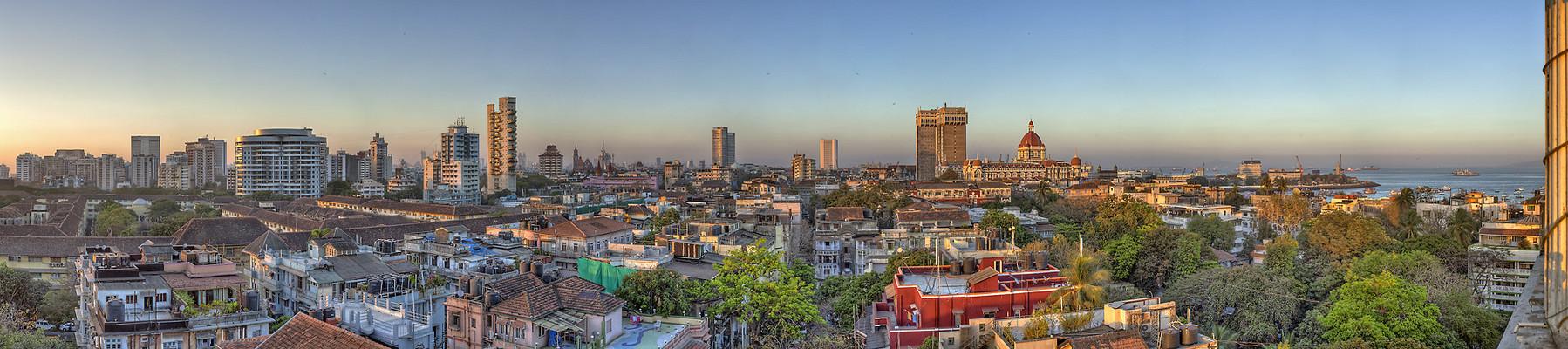 Skyline of Mumbai/India at sunset III